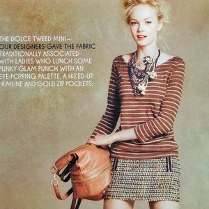 J. Crew Dolce Tweed Mini Skirt